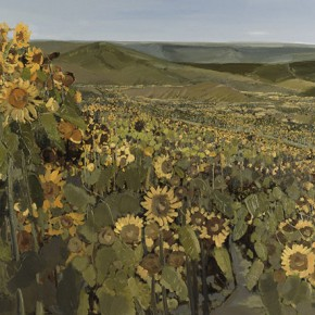 "Li Jiangfeng, ""Sunflowers"", 2012; oil on canvas, 180x320cm"