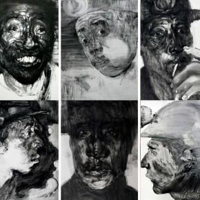 "Li Xiaolin, ""Survivor"", 2010; printmaking, 120 x100 cm"