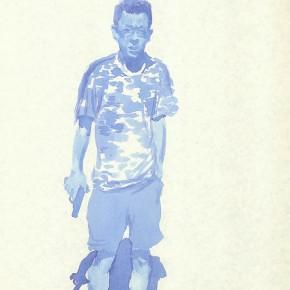 "Liu Xiaodong, ""10"", 2011; ink on paper, 27.2 x19.7cm"