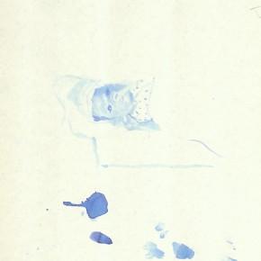 "Liu Xiaodong, ""4"", 2011; ink on paper, 27.2 x19.7cm"