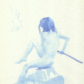 "Liu Xiaodong, ""6"", 2011; ink on paper, 27.2 x19.7cm"