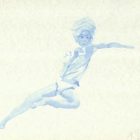 "Liu Xiaodong, ""7"", 2011; ink on paper, 27.2 x19.7cm"