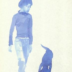 "Liu Xiaodong, ""8"", 2011; ink on paper, 27.2 x19.7cm"