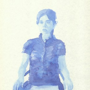 "Liu Xiaodong, ""9"", 2011; ink on paper, 27.2 x19.7cm"
