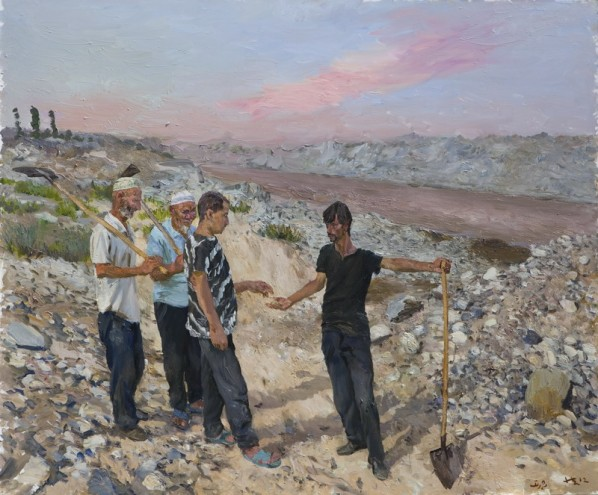 Liu Xiaodong, East, 2012; oil on canvas, 2.5M×3M
