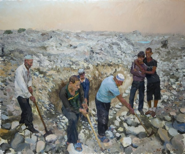 Liu Xiaodong, North, 2012; oil on canvas, 2.5M×3M