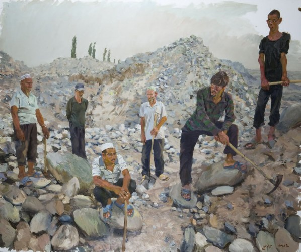 Liu Xiaodong, South, 2012; oil on canvas, 2.5M×3M