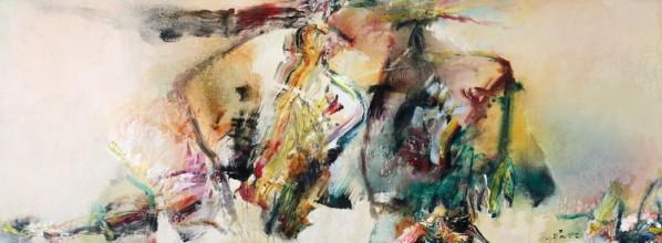 Overfilling Vitality, 2009; oil on canvas, 76x202cm