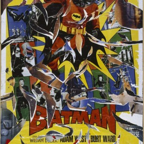 Rotella Mimmo Batman miscellaneous Décollage sur toile 1900x1400mm 1968