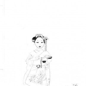 Shen Ling, sketching on paper 04