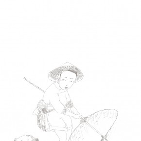 Shen Ling, sketching on paper 05