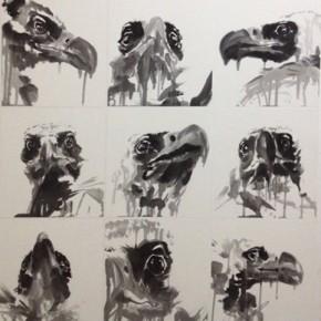 "Shen Qin, ""Words of Eagle Series No.1"", ink on paper, 140×150 cm, 2012"