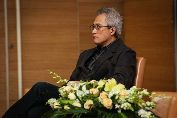 Wang Shuibo talked about films and animations 03; Photo by Hu Zhiheng/ CAFA ART INFO