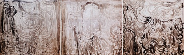 Yuan Yunsheng, Even though the waves getting bigger, 2010; ink on canvas, 200cm×660cm