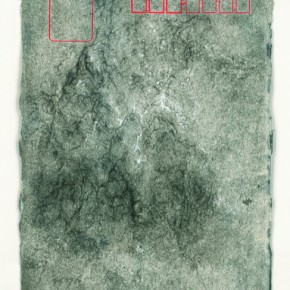 """Zeng Fanzhi, """"Untitled No.3"""", ink on paper, 19×21.5 cm, 2012"""