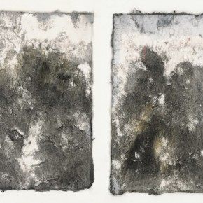 """Zeng Fanzhi,""""Untitled No.2"""", ink on paper, 15×21 cm, 2012"""