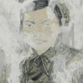 "Zheng Qiang, ""Past Beijing China in 1951"", ink on paper, 2012"
