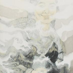 """Zheng Qiang, """"Past Honghu China in 1971"""", ink on paper, 2012"""