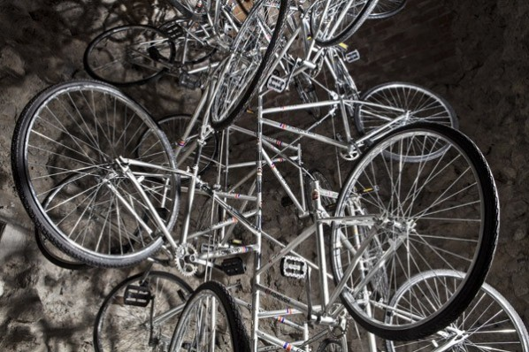 "Ai Weiwei, ""Very Yao"", 2008; bicycle, dimensions variable©Ai Weiwei Courtesy Galleria Continua"