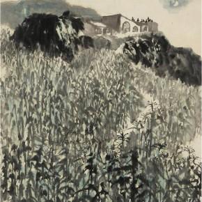 "Shi Lu, ""Approaching the Mid-autumn Festival"", 1962; 69cm×62cm"