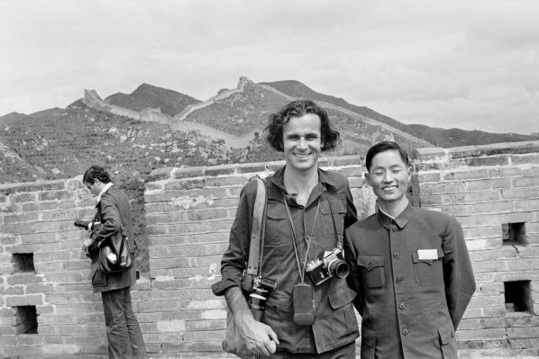 CHINA. Beijing. French photographer Bruno BARBEY with an interpreter. 1973. Source: magnumphotos.com