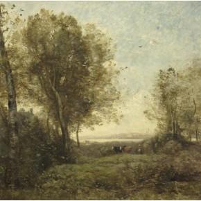 """Camille Corot, """"Le matin. Gardeuse de vaches"""""""