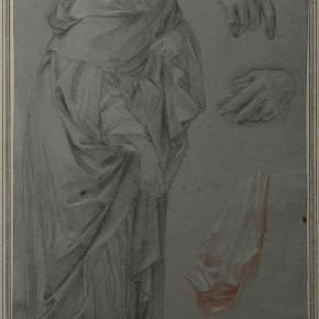 Carlo Maratti (Camerano 1625-1713 Rome), white and red chalk on blue paper Courtesy YUAN Space