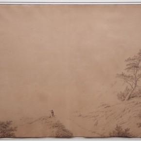 Caspar David Friedrich (Greifswald 1774-1840 Dresden), White chalk, pen and brown ink, brown wash, heightened with white Courtesy YUAN Space