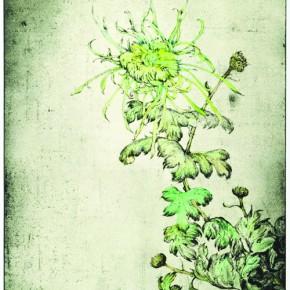 Chrysanthemum in Autumn James Wong 89.5 x 40 cm Colour on Intaglio Prints 2011