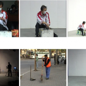 "Geng Jianyi, ""To Be Your Correct Self"", 2005; Multi-Channel Video, Twenty-Channel Video Installation 01"
