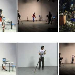 "Geng Jianyi, ""To Be Your Correct Self"", 2005; Multi-Channel Video, Twenty-Channel Video Installation 02"