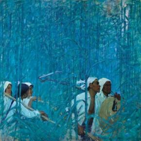 "Gu Zhujun, ""Green Gauze"", 1963; oil on canvas, 180×180 cm ©CAFAM"