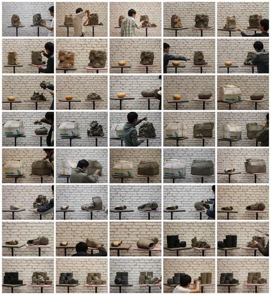 Hu Qingyan, Narrative by a Pile of Clay 41-80 (2010-2011, C-print, unique, set of 40 photos, each 20 × 30 cm) © Hu Qingyan Courtesy Galerie Urs Meile