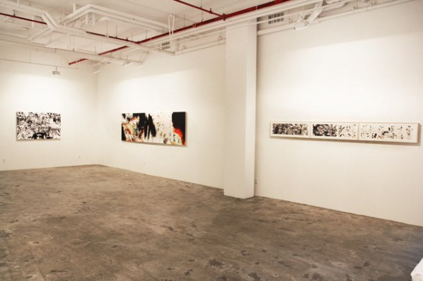 Installation View of Not Too Late: Recent Works by Feng Mengbo 02