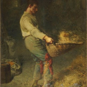 "Jean Francois Miller, ""The Man Winnowing Cereals"""