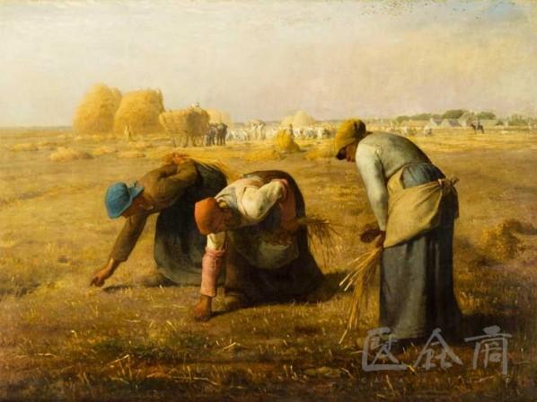 "Jean Francois Millet, ""Des glaneuses"" (The Gleaner), oil on canvas, 84 x 111 cm, 1857"