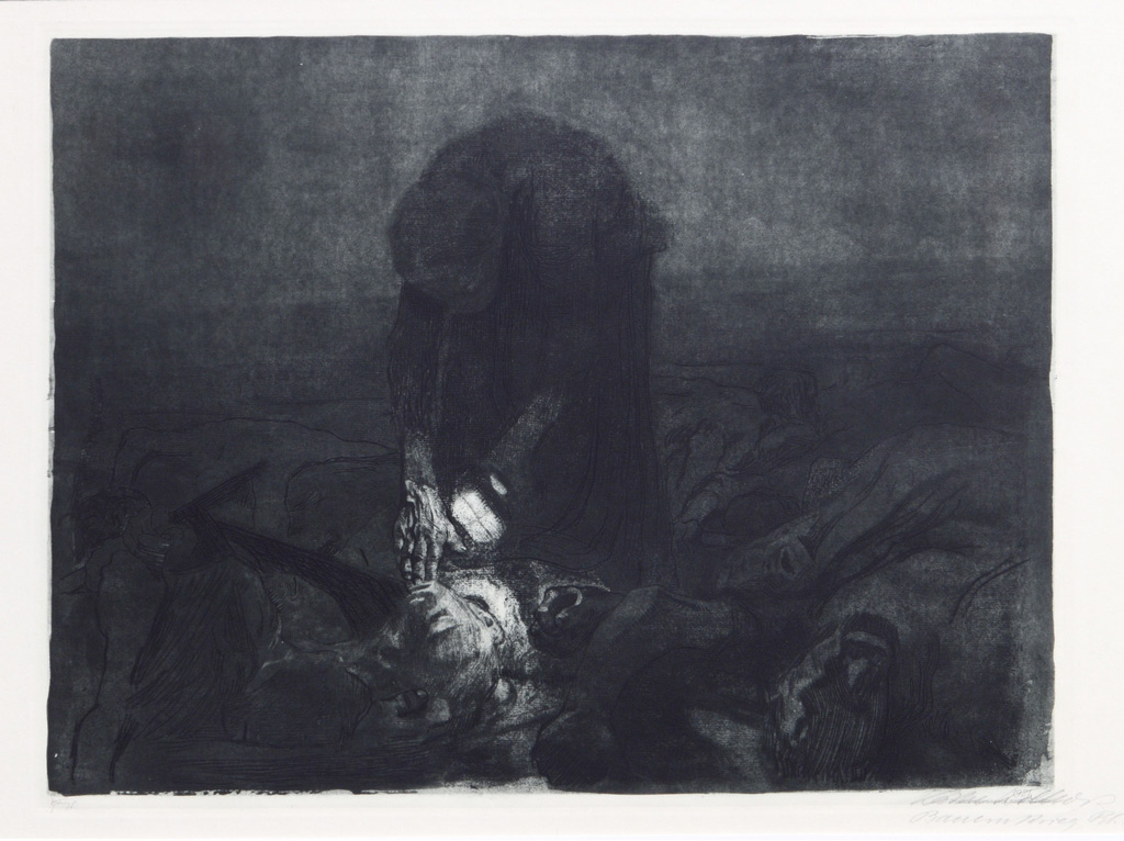 K_the Kollwitz, After the battle, Copperplate etching, 1907 Courtesy YUAN Space