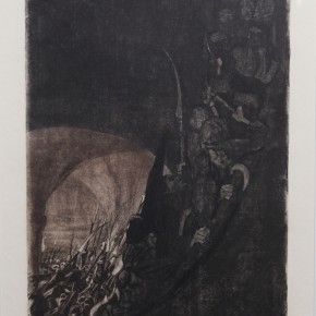 K_the Kollwitz, Arming in the vault, Copperplate etching, 1906 Courtesy YUAN Space