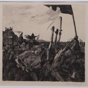 K_the Kollwitz, Aufruhr Radierung und Aquatinta, 1899 Courtesy YUAN Space