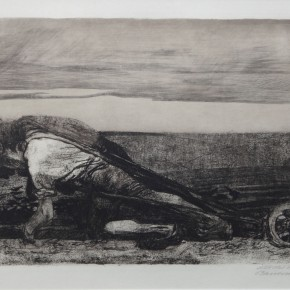 K_the Kollwitz, Plowing,Copperplate etching, 1906-1907 Courtesy YUAN Space