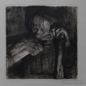 K_the Kollwitz, Sharpening the scythe, Copperplate etching, 1905 Courtesy YUAN Space