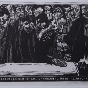 K_the KollwitzIn, Memoriam KarlLiebknecht, Woodcut, 1920 Courtesy YUAN Space