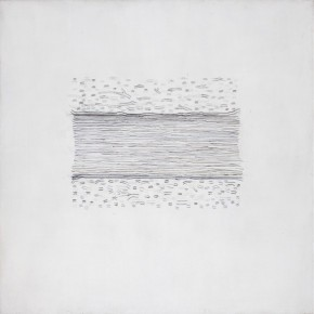 Li Xiaojing, One Section, 2009; oil and pencil on canvas, 150 x 150 cm