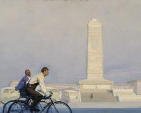 "Li Xiushi, ""Morning"", 1961; oil on canvas, 101×301 cm ©CAFAM"