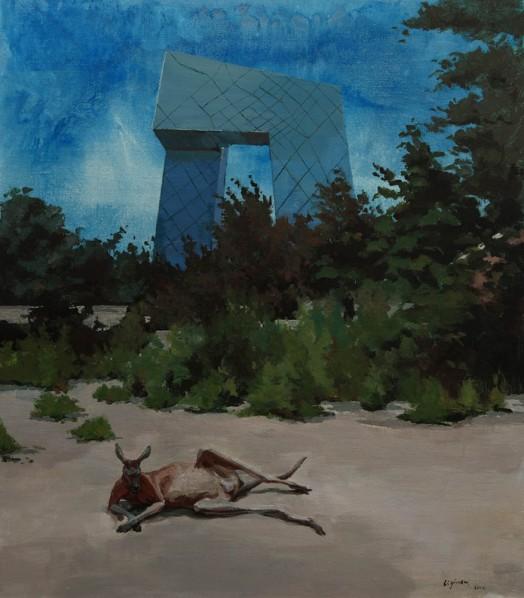 "Li Yiwen, ""Ideal Is Less than Desolation"", 2012; acrylic on canvas, 150X170cm"