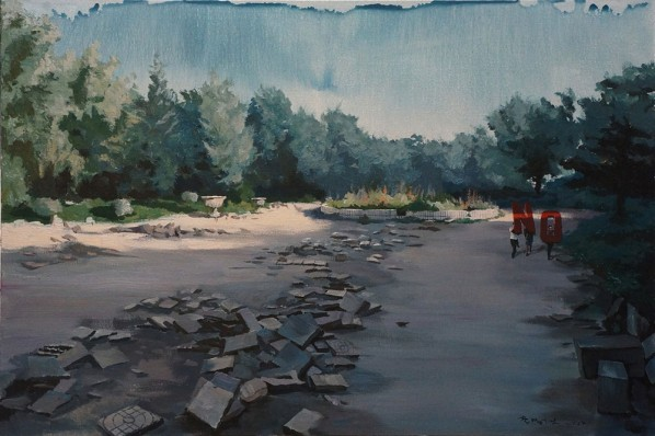 "Li Yiwen, ""NO!"", 2012; acrylic on canvas, 150X100cm"