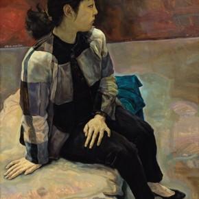 "Mao Yan, ""A Sitting Woman"", 1991; oil on canvas, 128×95 cm ©CAFAM"