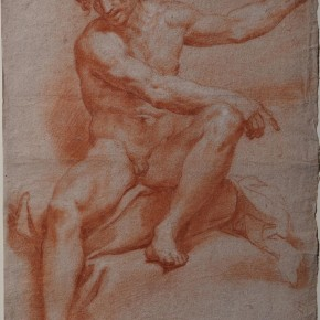 Roman School, 18th Century red and white chalk, on buff paper Courtesy YUAN Space
