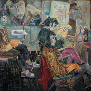 "Shen Ling, ""Salon Series No.1"", 1990; oil on canvas, 150×190 cm ©CAFAM"
