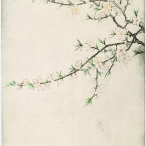 Spring Peach James Wong 89.5 x 40 cm Colour on Intaglio Prints 2011